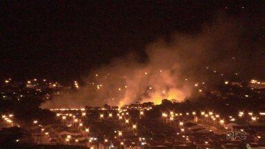 Bombeiros registraram aumento de incêndios ambientais nos últimos dias - De ontem para hoje, foram recebidos 11 chamados em Ponta Grossa
