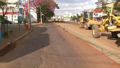 Trecho da avenida Morangueira fica interditado para realização de obras - Os motoristas precisam ficar atentos as mudanças feitas na avenida