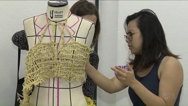 Londrina é um centro que também produz e dita a moda - O ParanáTV mostra hoje o processo criativo da moda, com alunos do curso de Design de Moda da UEL, e também do SENAI.