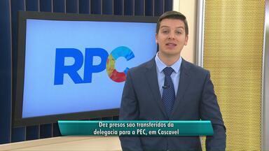 Dez presos são transferidos da cadeia de Cascavel para a PEC - Medida é para desafogar a delegacia.