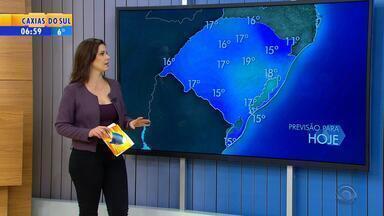 Tempo: quinta-feira (7) será ensolarada e terá baixas temperaturas no RS - Máximas ficam abaixo dos 20º em todo o estado.