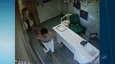 Câmeras de segurança flagram resgate de preso em hospital do CE - Fuga aconteceu no Frotinha da Parangaba.