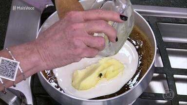 Ana Maria cozinha com inseto na panela - Durante o Super Chef Celebridades 2016, ela não percebe que caiu um inseto no caramelo de banana