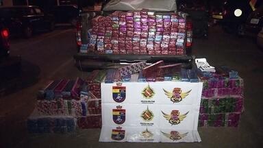 PM apreende mais de 600 kg de maconha em Samambaia - A apreensão foi na BR-060. Os agentes faziam uma fiscalização na pista e foram vistos de longe pelo motorista que trazia a droga em uma caminhonete.