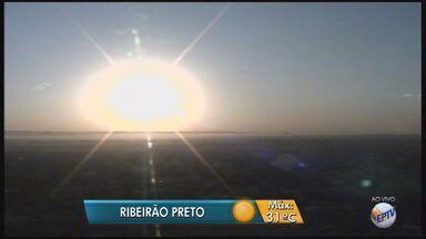 Calor deve dar trégua a partir de domingo (17) em Ribeirão Preto, SP - Nesta sexta-feira (15), temperatura máxima deve ser 31ºC.
