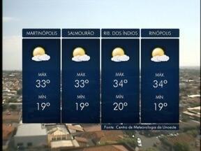 Frente fria avança sobre o Oeste Paulista - Tempo começa a mudar neste sábado (16).