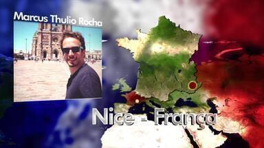 Caruaruense estava em Nice durante o atentado ocorrido no Dia da Bastilha - Marcus Thulio Rocha foi fazer um curso de francês em Marselha e estava a passeio em Nice.