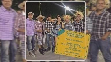 Arraial do Parque dos Bilhares é opção de lazer para o fim de semana - Festa inicia nesta sexta-feira (15).