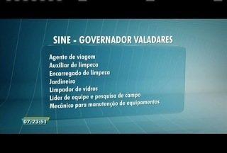 Confira as vagas ofertadas pelo sine de Governador Valadares - Ao todo são oferecidas oportunidades em sete áreas.