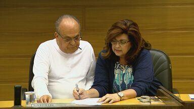 PSDB oficializa candidatura de Sidnei Rocha à Prefeitura de Franca, SP - Candidato apresentou a vereadora Valéria Marson (PSD) como sua vice durante convenção na Câmara Municipal.