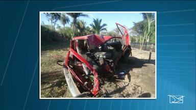 Acidente é registrado na BR-010 no município Governador Edson Lobão - Acidente ocorreu no povoado Bananal; ninguém ficou ferido.