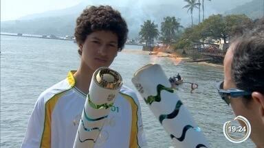 Tocha olímpica chegou à região - Símbolo olímpico passou por Ilhabela.