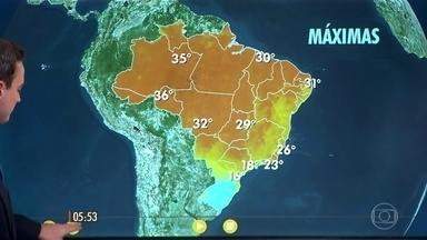 Confira como fica o tempo nesta quinta-feira (28) em todo o país - Frio chegou em parte do Sudeste e de Mato Grosso do Sul, mas deve ir perder força até o fim de semana.
