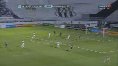 Ponte Preta goleia o Figueirense pela Copa do Brasil - Galhardo marcou dois gols na vitória por 5 a 0.
