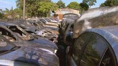 Pátio da Transerp é incendiado após morte de adolescente na zona norte de Ribeirão Preto - Polícia Civil investiga relação entre os casos.