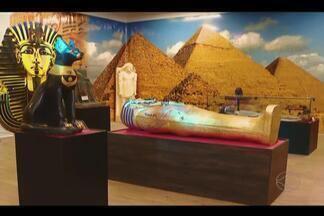 Exposição sobre história do Egito acontece em Uberlândia - Obras expostas chegam a ter sete mil anos de idade. Mostra está montada no Center Shopping e vai até 18 de agosto.