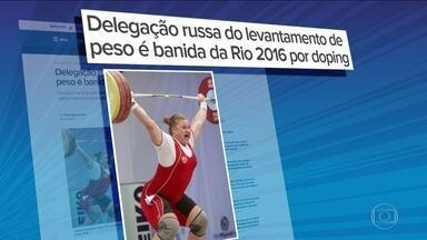 Delegação Russa de levantamento de peso é banida da Rio 2016 - A medida foi tomada devido aos escândalos de doping com atletas do país.