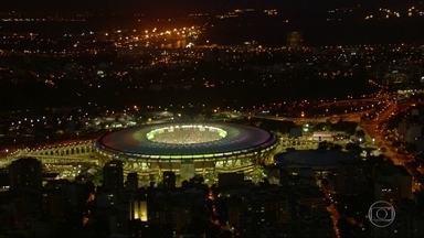 Quase 50 mil pessoas participam de ensaio da abertura da Olimpíada no Maracanã - Os visitantes tiveram que se comprometer a não registrar nenhuma imagem do ensaio.
