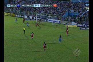 Paysandu abre dois de vantagem, mas cede empate ao Vila Nova - Tiago Luis faz dois, mas Papão não consegue segurar a vantagem no segundo tempo, e vê rival empatar com dois gols de Moises.