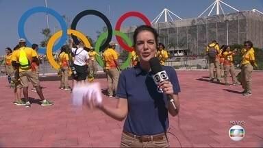 Começou a cobertura olímpica do RJTV primeira edição - Mariana Gross apresenta o parque olímpico