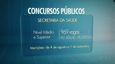 Temporada de concursos públicos está aberta no Paraná - O concurso com mais vagas é o da Secretaria Estadual de Saúde.