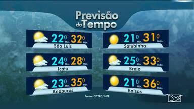 Veja como fica a previsão do tempo para esta segunda-feira (1º) no Maranhão - Veja como fica a previsão do tempo para esta segunda-feira (1º) no Maranhão.