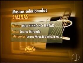 Confira as músicas que vão ser apresentadas na etapa de Salinas do Viola dos Gerais - As três classificadas vão direto para a grande final.