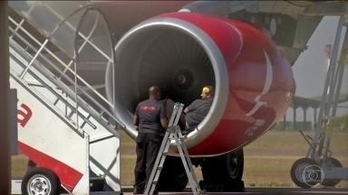 Avião bate em ave e precisa voltar ao Aeroporto de Campo Grande - Dos 98 passageiros, 40 iam assistir à estreia da seleção masculina de futebol, em Brasília.