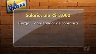 Confira as vagas de emprego para Goiânia - Empresa contrata coordenador de cobrança com salário de R$ 3 mil.