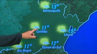 Previsão do tempo - Curitiba terá temperatura variando entre 11 e 23 graus nesta quinta-feira.