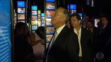 Presidente de Portugal visita os museus da Zona Portuária - Presidente português elogia organização da Olimpíada e visita a mostra sobre a imperatriz Leopoldina.