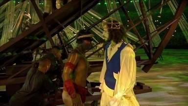 Dançarinos representam a chegada dos povos ao Brasil, na Abertura da Rio 2016 - Dançarinos representam a chegada dos povos ao Brasil, na Abertura da Rio 2016