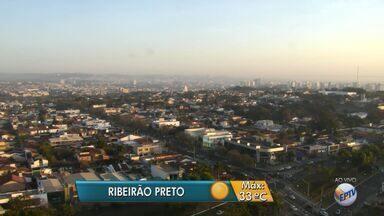 Confira a previsão do tempo para esta segunda-feira (8) na região de Ribeirão Preto, SP - Temperatura máxima deve ser de 33ºC, de acordo com meteorologistas.