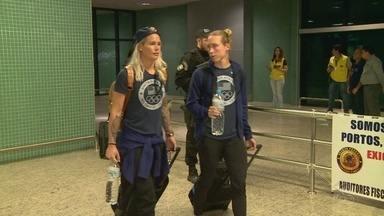 Seleção feminina dos EUA chega à Manaus - Equipe está em busca do quinto ouro.