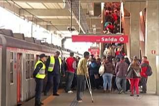 Atos de vandalismo têm prejudicado passageiros da CPTM - O trem é um dos principais meios de transporte de quem vai trabalhar.