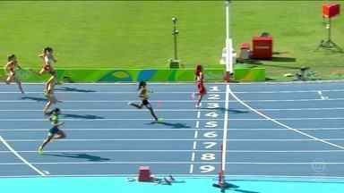 Kauiza Venancio chega em terceiro em classificatória nos 200m de atletismo - Kauiza Venancio chega em terceiro em classificatória nos 200m de atletismo