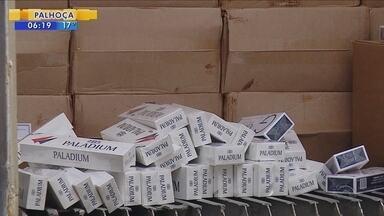 Apreensão de cigarros contrabandeados supera flagrantes do ano passado - Apreensão de cigarros contrabandeados supera flagrantes do ano passado