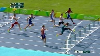 Luiz Alberto de Araújo vence eliminatória dos 110m com barreiras - Luiz Alberto de Araújo vence eliminatória dos 110m com barreiras