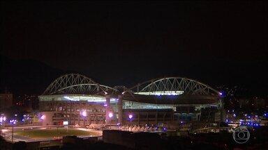 Engenhão tem final com Usain Bolt na noite desta quinta (18) - A dupla brasileira de vôlei de praia masculino disputa o ouro em Copacabana.