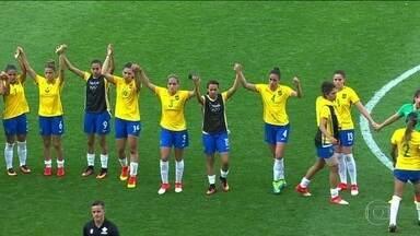 Brasil perde no futebol feminino e Canadá fica com o bronze - O Brasil disputou o Bronze com o Canadá nesta sexta (19) na Arena Corinthias em São Paulo.
