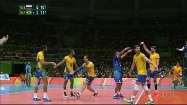 Brasil vence a Rússia e disputa a final do vôlei masculino contra a Itália - O jogo será no Maracanãzinho.