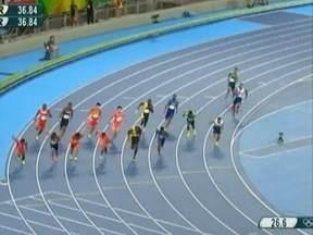 Velocista Bruno Lins participa da final do revezamento 4x100m na Olimpíada - Atleta treina em Presidente Prudente.