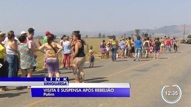 Visitas estão suspensas na P1 em Potim depois de rebelião - Motim terminou com oito feridos.