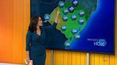 Tempo: frio e chuva atingem a maior parte do RS neste fim de semana - Sol deve aparecer na próxima segunda-feira (22).