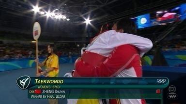 Chinesa é ouro no taekwondo feminino +67 kg - Chinesa é ouro no taekwondo feminino +67 kg