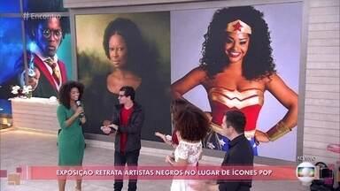 Juliana Alves participa de exposição retrata artistas negros no lugar de ícones pop - JP Rufino mostra como é a exposição