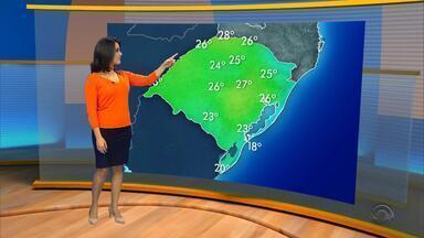 Tempo: máximas chegam atingir os 26° na quinta-feira (25) no RS. - Assista ao vídeo.