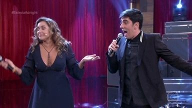 Daniela Mercury e Adnet cantam música para Galvão Bueno - Sucesso da cantora baiana ganha nova letra em homenagem ao narrador