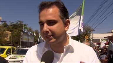 Rodrigo Pacheco (PMDB) participa de lançamento de candidaturas de vereadores, em BH - Ele falou sobre prioridades caso seja eleito