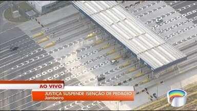 Liminar que isenta de pedágio morador de Jambeiro é suspensa - Praça na Tamoios cobra valor de R$ 3,50 para carros desde 1º de julho.